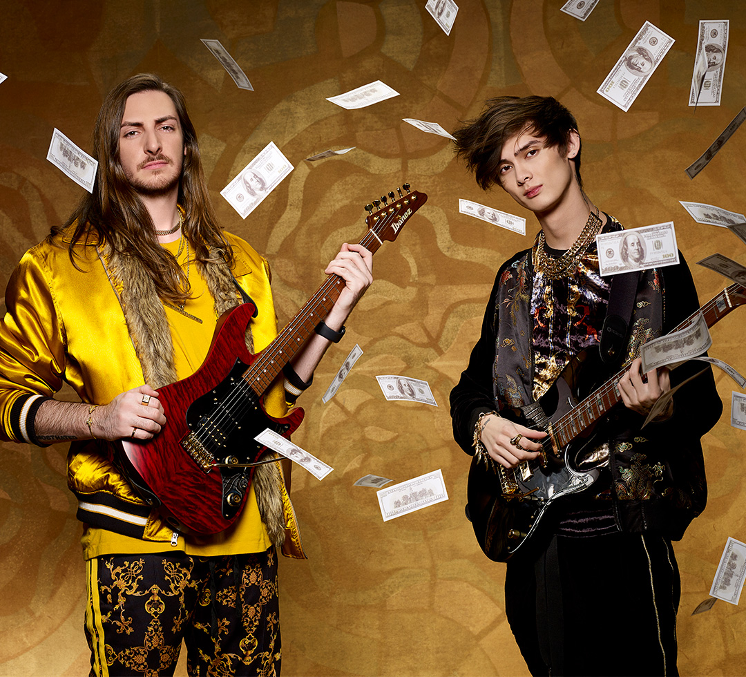 Scottie LePage and Tim Henson of Polyphia play DiMarzio