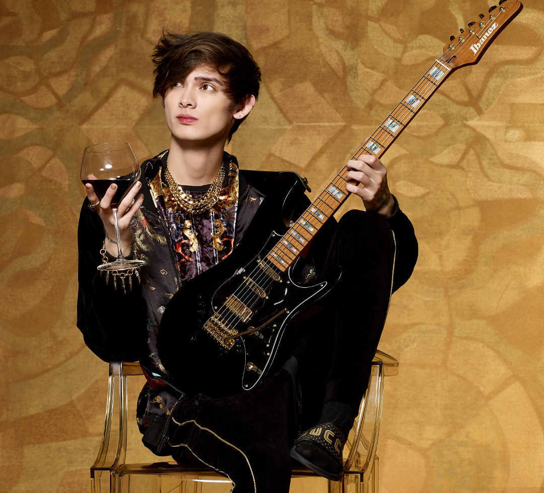 Tim Henson of Polyphia plays DiMarzio