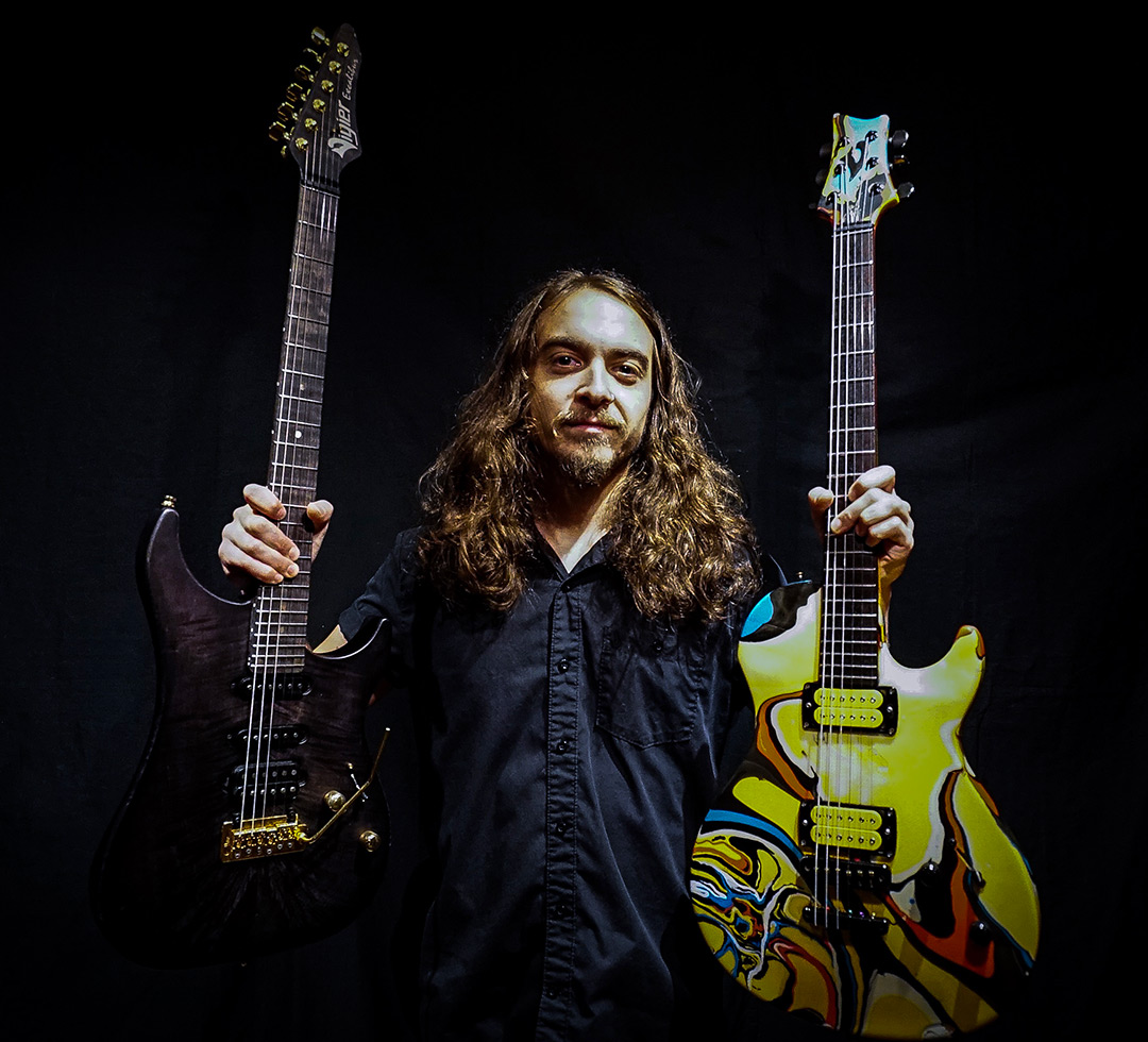 Nick Lee of Moon Tooth and Riot V plays DiMarzio