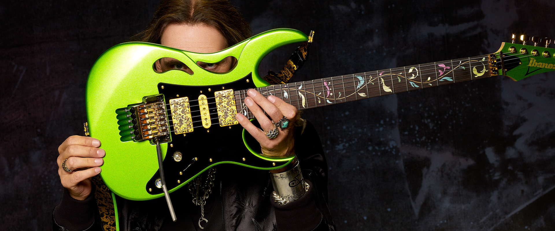 Steve Vai photo by Larry DiMarzio