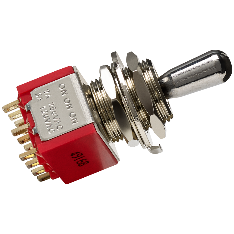 4PDT Pickup Selector Switch - 3 Position (On/On/On)